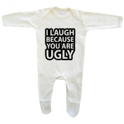 Bang Tidy Clothing Baby Boy's I Laugh Because You Are Ugly Rompersuit