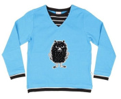 Moomin STINKY Cute Children's Boys/Girls Double Shirt with Long Sleeves, Blue, 95% Cotton, Size
