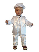 Christening/Wedding Suits 6 Pcs. G7 White