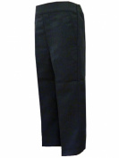 Boys Pull Up School Uniform Trousers Elasticated Waist Grey & Black Ages 1 - 8 Years
