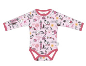 Moomin Cute Baby Boys / Girls Romper, Bodysuit, Jumpsuit with Long Sleeves, Pink, 100% Cotton, Age 3 - 24 M