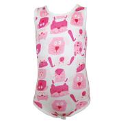 FIXONI - Creeper Infant Girls Sleeveless Dog, white-pink