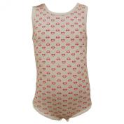 FIXONI - Body baby girl sleeveless heart, off-white