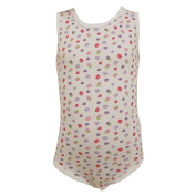 FIXONI - Body baby girl sleeveless flower, white-eyed