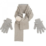 Mayoral Mini Girls Scarf Gloves Set Grey