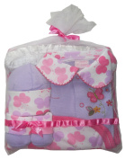 "Beau Bébé 4-piece Baby Gift Set in Purple with ""Cute Butterflies"" Pattern, Embroidery and Appliqué."
