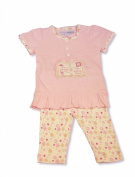 Baby Girls Gorgeous PINK 2 Piece Top & Trouser Set - BESTEST FRIENDS Design - 3-6 Months - 100% Cotton