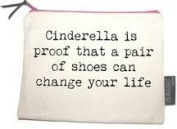 Canvas Zipped Makeup Bag Cinderella Is Proof That a Pair Of Shoes Can Change Your Life