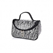 Zebra White Pattern Cosmetic Make up Travel Package Case Pouch - Model 172 [version:x7.7] by DELIAWINTERFEL
