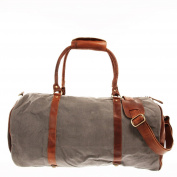 Leconi holdall travel bag canvas leather vintage LE2004-C