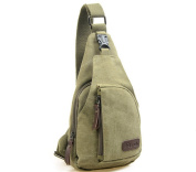 Casual Retro Canvas Backpack Sling Cross-body Bag Shoulder Bag Chest Bag(Small)