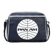 PAN AM Street Bag Shoulder Bag Retro Look with Logo Licenced with Metal Studs, High Quality Navy