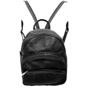 Genuine Leather Round Top Backpack Organiser Bag