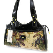 Designer bag 'Gil Holsters'black tapestry.
