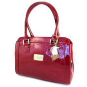 Leather bag 'Jacques Esterel'polish red musical notes.