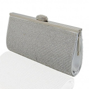 NEW WOMENS DIAMANTE EVENING CLUTCH BAGS PARTY PROM BRIDAL SILVER GOLD BLACK