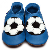 Inch Blue Football Soft Leather Shoes