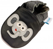 MiniFeet Soft Leather Baby Shoes, Elephant