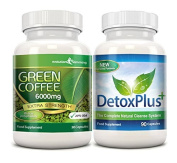 Green Coffee Bean Cleanse 6000mg 20% CGA Cleanse Pack 1 Month Supply
