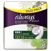 Always Discreet Sensitive Bladder Normal Pads Value 24 per pack