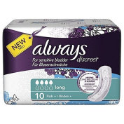 Always Discreet Long Incontinence Pads - Pack of 40