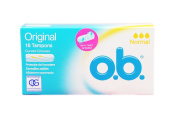 O.B. Normal 16 Tampons Curved Grooves