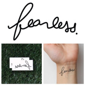 Fearless Temporary Tattoo word