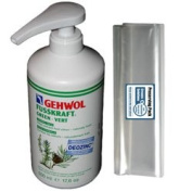 GEHWOL FUSSKRAFT GREEN foot cream for normal skin kit / Helps prevent foof odour / Large Salon Size 0,5L 500ml / Largest on Amazon / Comes with preserving pack / Dermatologically tested / Made in Germany