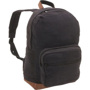 Vintage Canvas Teardrop Backpack w/Leather Accents, Padded Laptop Compartment