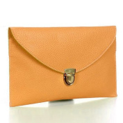 Ardisle Ladies Large Leather Style Envelope Evening Clutch Bag Women Wedding Purse Chain