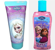 Disney Frozen Frosted Berry Scented Bubble Bath + Body Lotion Set Beauty