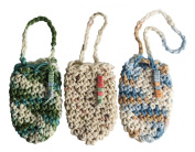 100% Cotton Hand Crafted Crochet Pouch Soap Saver - 3 Pouch Set