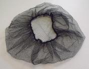 Black Disposable Bouffant Cap Honeycomb Style Hair Net (10/pk).