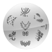 Konad Stamping Nail Art - Image Plate M 77 by Star Naildesign & Cosmetics