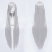 Sunny-business Long Straight Party Silver White Inuyasha of Cosplay Wig 100cm