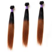 Ombre 1b/30 Straight Hair Weft 41cm 46cm 50cm Straight Hair