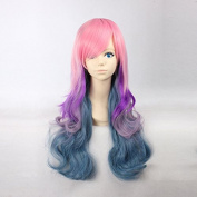 Women's Long Natural Wave Pink / Purple / Baby Purple / Marine Blue Ombre Heat Resistant Synthetic Hair Lolita Fashion Wig LOW05 Free Size
