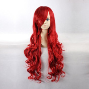 Women's Long Wave Christmas Red Heat Resistant Synthetic Hair Lolita Fashion Wig LOW04 Free Size