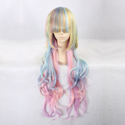 Women's Long Wavy 7 Colours Ombre Heat Resistant Synthetic Hair Lolita Fashion Wig LOW09 Free Size