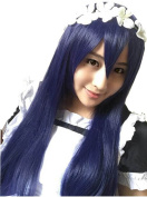 Lovelive Sonoda Umi Mixed Blue 80cm Long Straight Cosplay Wig Without Headwear