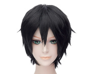 HH Building Sword Art Online Kazuto Kirigaya Kirito Anime Cosplay Costume Short Hair Wig