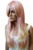 PRETTYSHOP Fashion Lady Wig Long Hair Straight End Curled Wavy Party Cosplay Colourful -Eye-Catcher