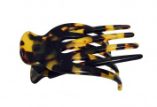 French Amie Ara Handmade Shell Salon Hinge Slide-in Beak Tokyo Leopard Clip Clamp