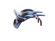 French Amie Pelican Handmade Shell Salon Hinge Slide-in Beak Black Ivory Clip Clamp