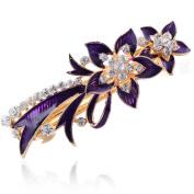 Beyend Purple Women's Fashion Flower Hair Clip Head Wear BE-10