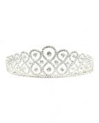 NYfashion101 Rhinestone Studded Elegant Pageant Crown Tiara NHTY3304SY