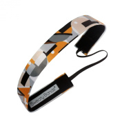 Sweaty Bands Fitness Headband - Mod Squad Gold/Grey 2.5cm Wide