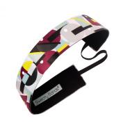 Sweaty Bands Fitness Headband - Mod Squad Maroon/Lime 3.8cm Wide