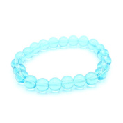 Beautiful Bead 8mm Sky Blue Beads Glass Wrist Bracelet for Women Gril