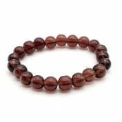 Beautiful Bead High Quality Dark Red Glass Bead Stretch Bracelet, 8mm in Diameter